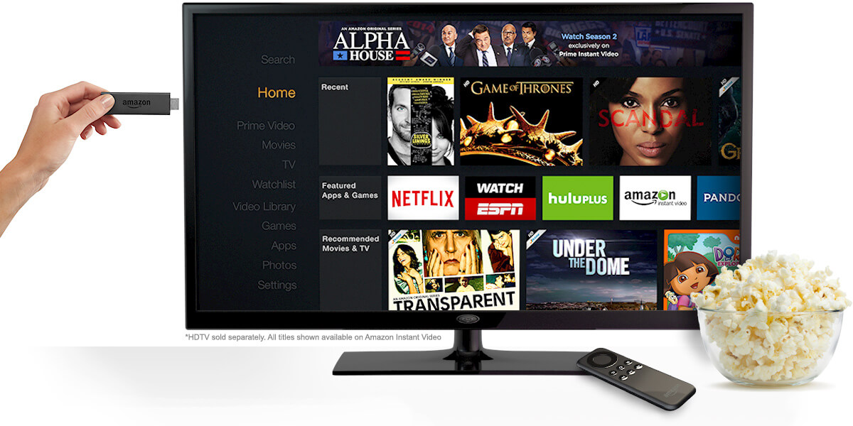 CurvedView's Amazon Fire TV Stick with Remote Control Giveaway