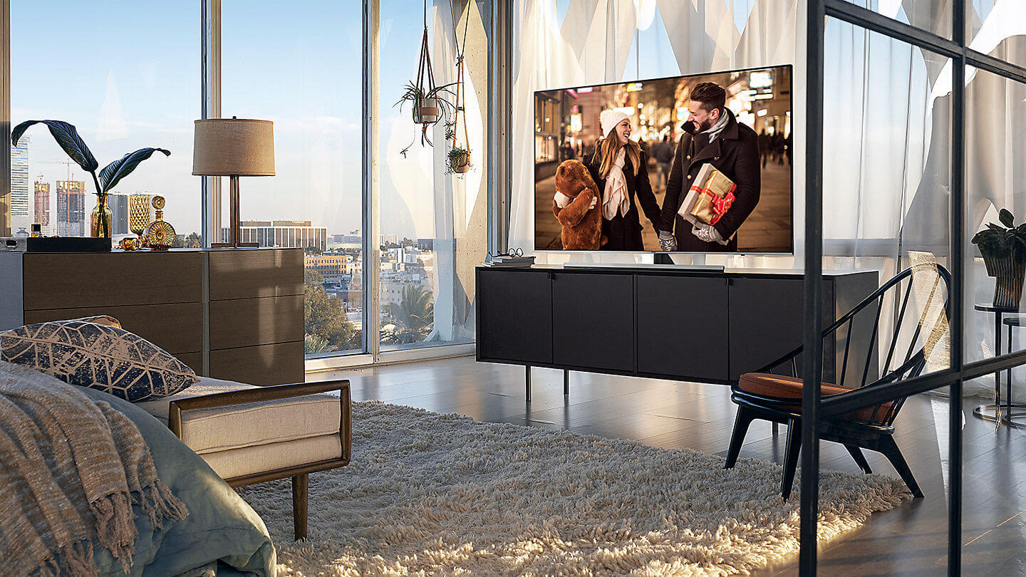 Samsung 4K LED UHD TV with slim features and vibrant colors