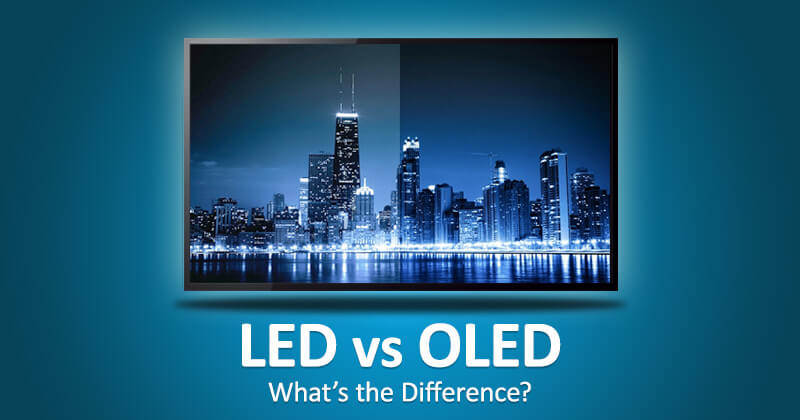 The major difference between OLED and LED is lighting source